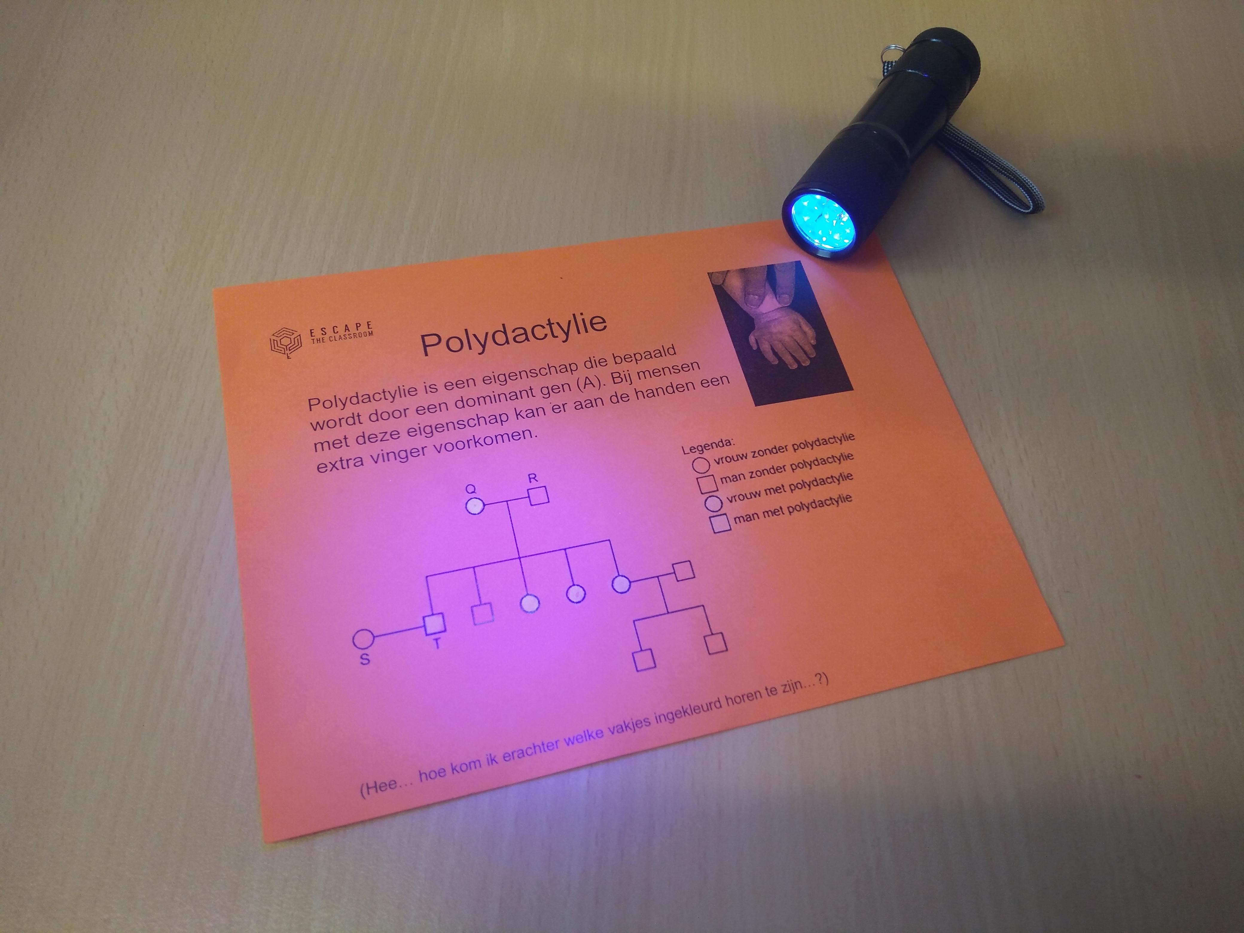 Onzichtbare inkt + UV lamp